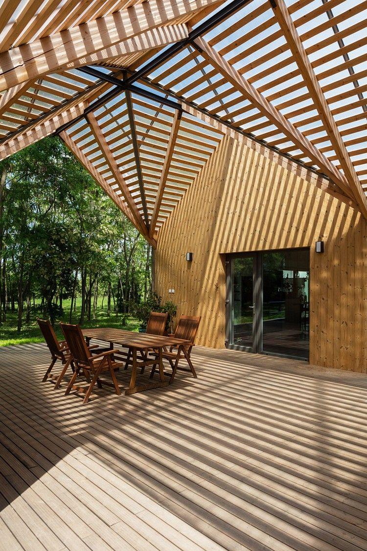 Terrassenuberdachung Aus Holz Schafft Ein Einzigartiges