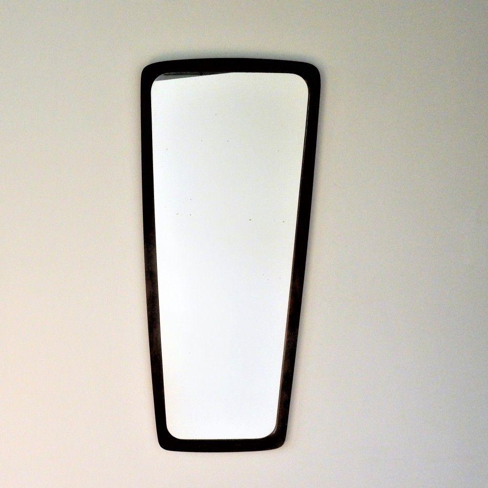 Danish rosewood framed mirror