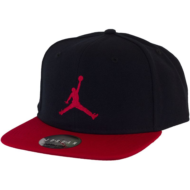 84624628546e Nike Jordan True Jumpman Snapback Cap black red