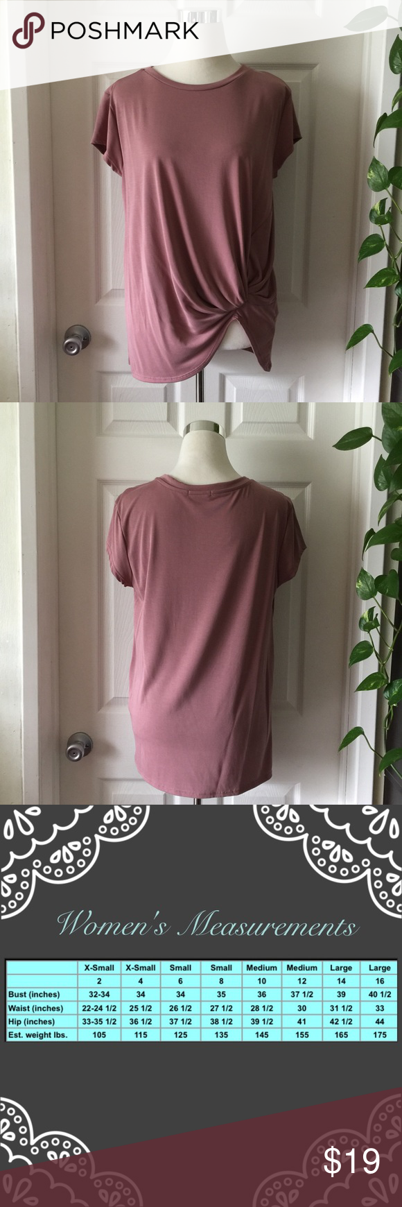 Short Sleeve W/Gathering Detail  Modal Top Short Sleeve W/Gathering Detail  Modal Top  🔸73%Modal 27%Polyester 🔸Made in USA  ✔️Serious buyers please & No Low ballers!  To me it's asking half or more off an item is Low Balling.   ✔️Please understand the sizes listed on the size chart are different between manufacturers & suppliers & this chart should only be used as an approximate guide. Amor Adore  Tops