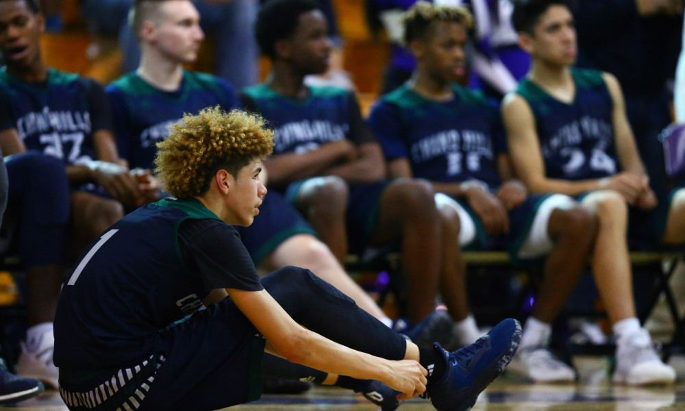 Watch Lamelo Ball Plays Pickup With Former Chino Hills Lamelo Ball Liangelo Ball Usc Trojans Football