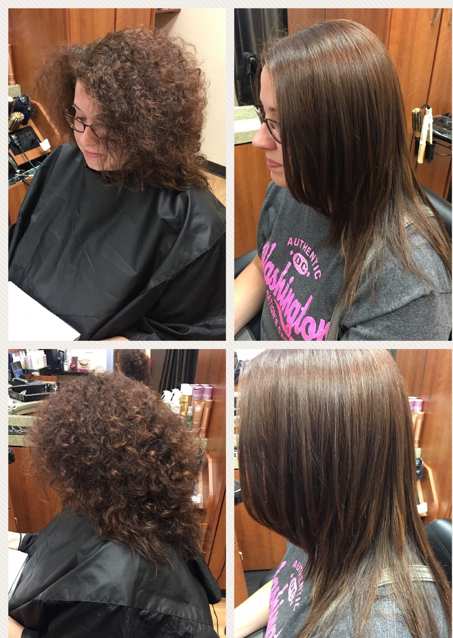 Straight perm solution - Before And After Japanese Hair Straightening Treatment Great Solution For Frizzy Hair Call For