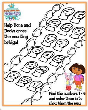 Free Nick Jr Printable Activity And Coloring Pages Dora