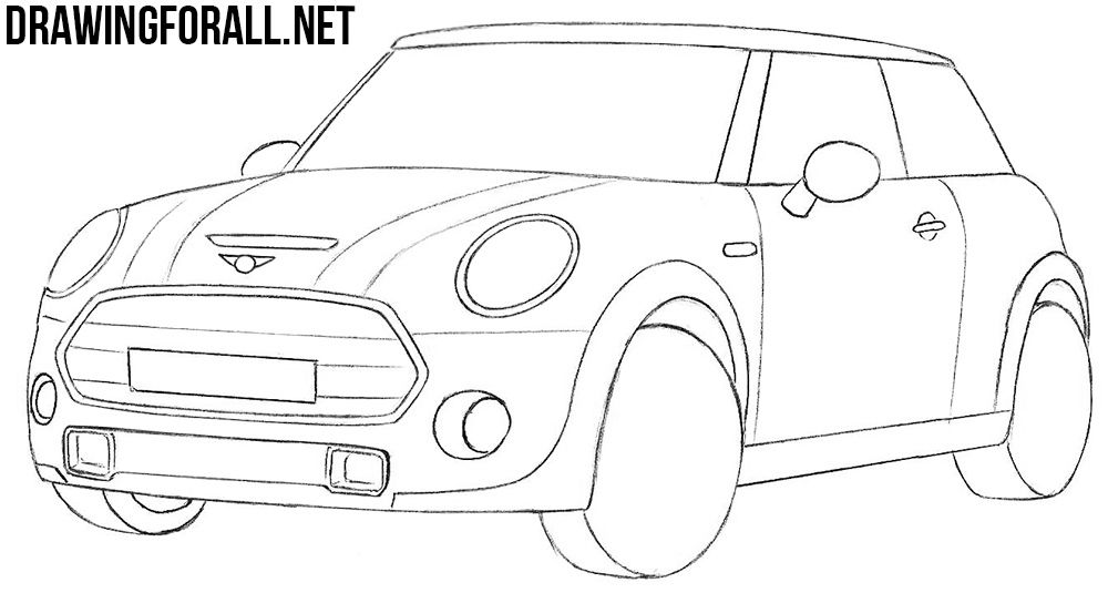 Mini Cooper Drawing Tutorial Mini Cooper Mini Drawings