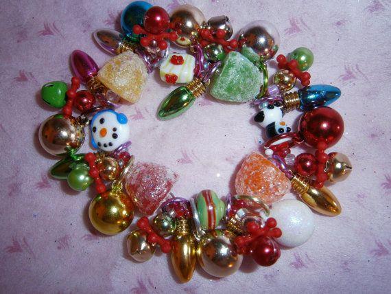 Christmas lights bracelet by beadiebracelet on Etsy