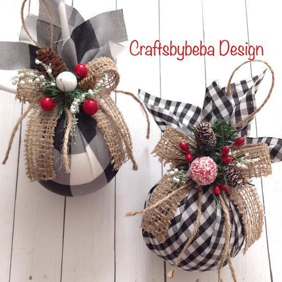 Weihnachtsschmuck - Plaid Weihnachtsbaum Ornamente - Set 2 Ornamente - handgefertigt ...  #handgefertigt #ornamente #plaid #set #weihnachtsbaum #weihnachtsschmuck #christmasornaments