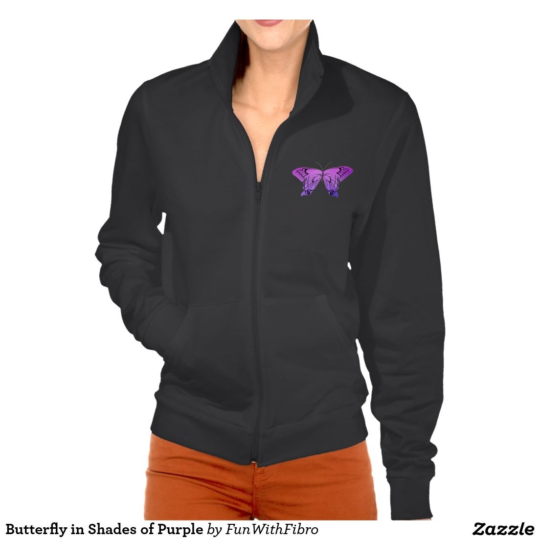 Butterfly in shades of purple jackets what people have bought from