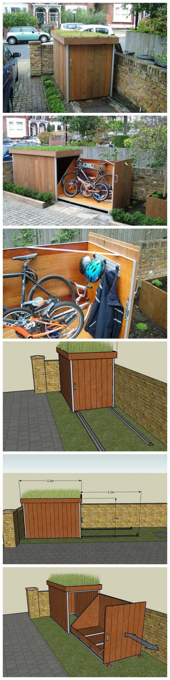 20+ Budget Friendly Garden Storage Ideas. Garden Bike StorageBicycle ...