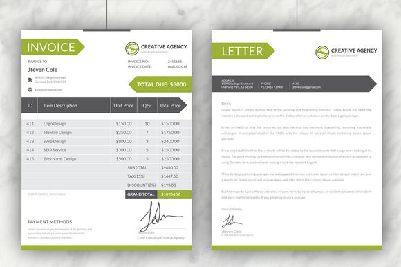 Creative Invoices + Cover Letter by Dotnpix on Creative Market - cover letter suggestions