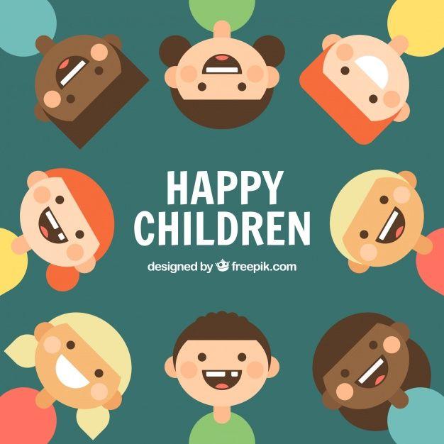 Baixe Fundo Plano De Miudos De Sorriso Gratuitamente Kids Background Kids Vector Children Illustration