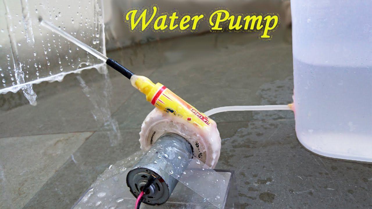 DIY : Learn how to make a mini water pump using shoe shiner