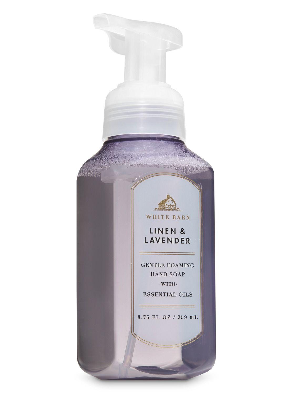 White Barn Linen Lavender Gentle Foaming Hand Soap By Bath