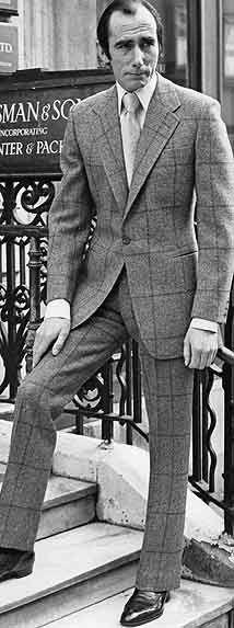 Hunstman Style of Savile Row, worn by head cutter Colin Hammick.  #Aim2Win