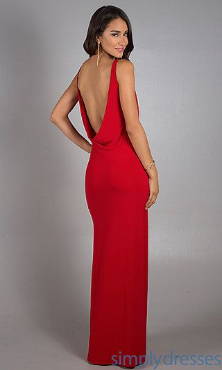 Long Red Cowl Neck Dress By Dave And Johnny Dresses Cowl Neck Dress Formal Red Prom Dress