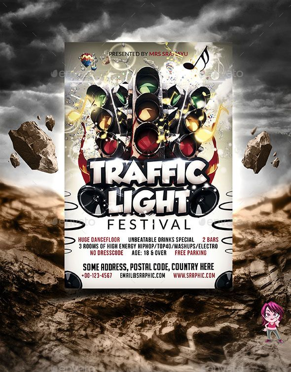 Traffic Light Flyer Template Traffic light, Flyer template and - zombie flyer template