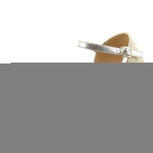 Sopily - damen Mode Schuhe Sandalen Espadrilles Seil glitzer Schleife - Silber CAT-10-LL662 T 39 - http://on-line-kaufen.de/sopily/39-eu-sopily-damen-mode-schuhe-sandalen-seil