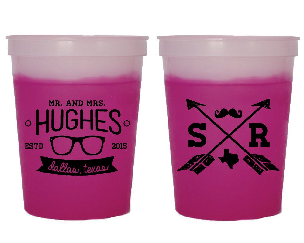 Hipster Wedding Mood Cups, Party Cups, Wedding Favor, Wedding Cups ...