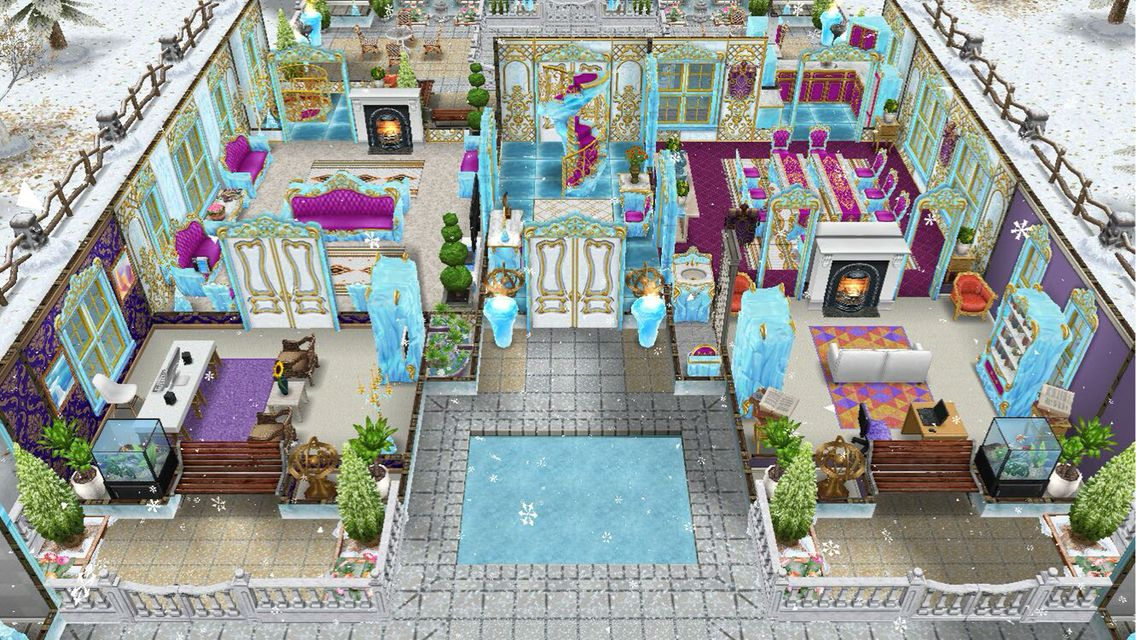 Sims Freeplay Castle With Towers Second Floor 2 Bedrooms Big Living Room And Walk In Closet