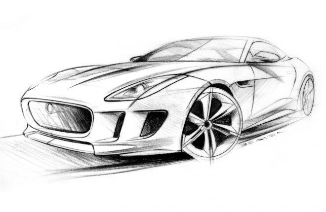 Jaguar Sketch Car Sketch Render Auto Zeichnungen Zeichnung