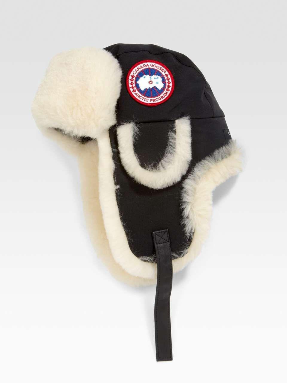 Canada goose arctic tech shearling pilot hat hats