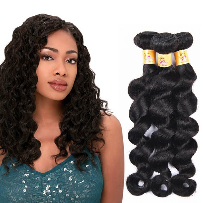 Marchqueen Indian Virgin Hair Loose Deep Wave Human Hair Weave 3