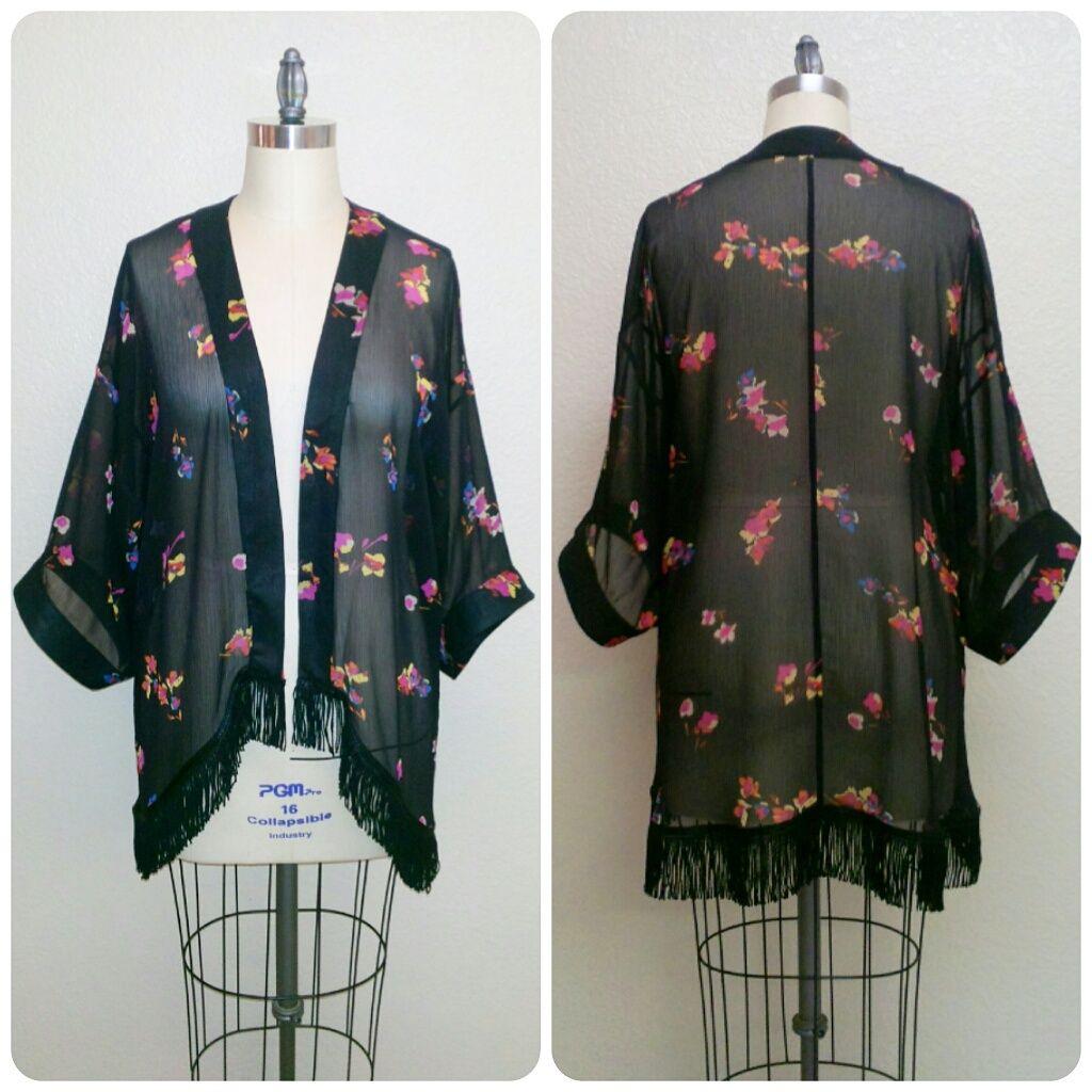 Review: Simplicity 1318 | A Silk Chiffon Fringed Kimono! | Erica B ...