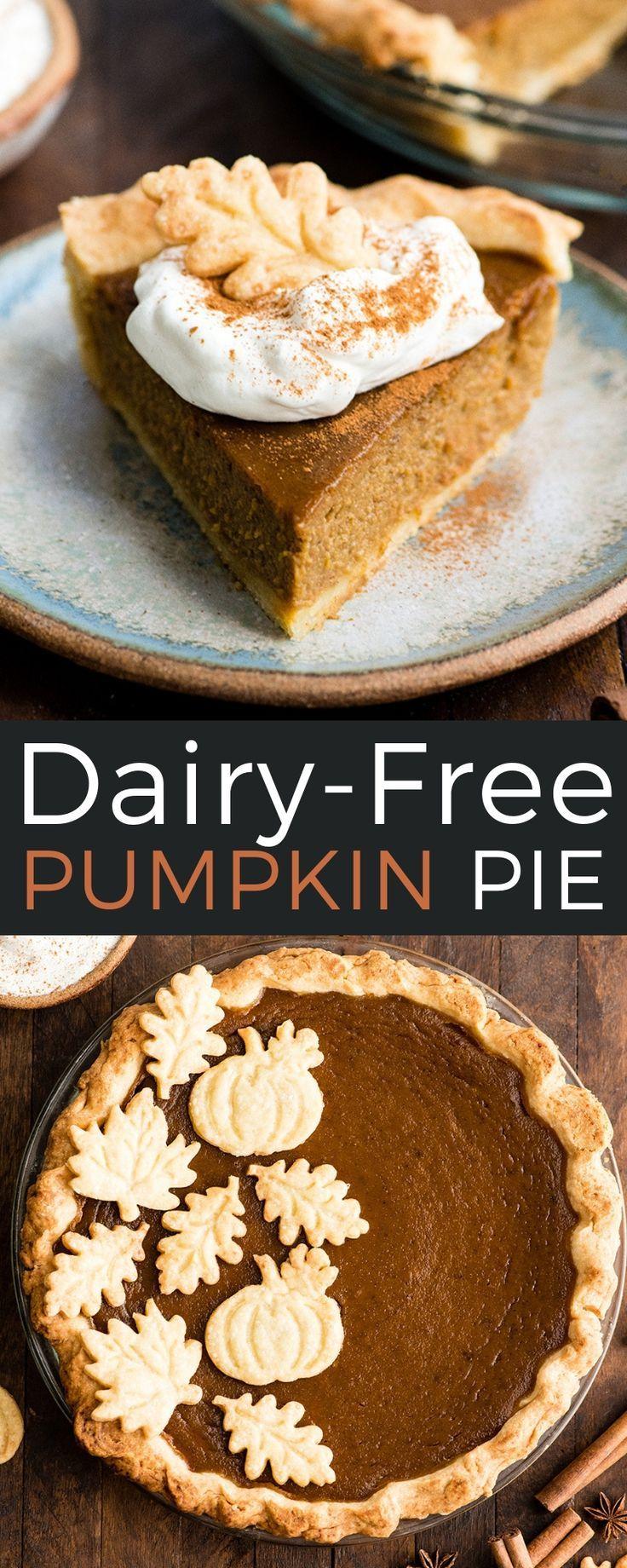 Homemade Dairy-Free Pumpkin Pie recipe from scratch