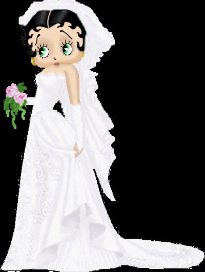 betty esta hermosa con su vestido de novia | betty boop | betty boop