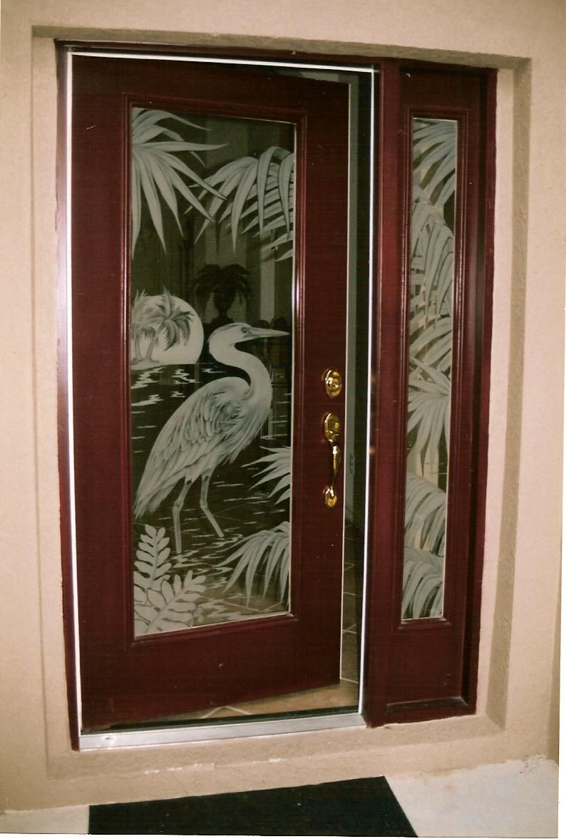 Frosted glass front door - Old Scottish Doors Modern Glass Door Designs