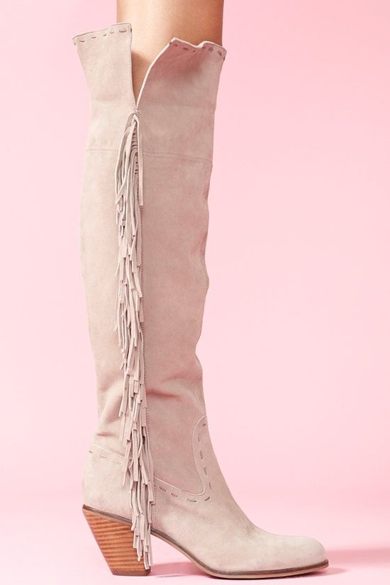The Best Of What s New Luella Thigh High Boot in Gray 4844 |2013 Fashion High Heels|