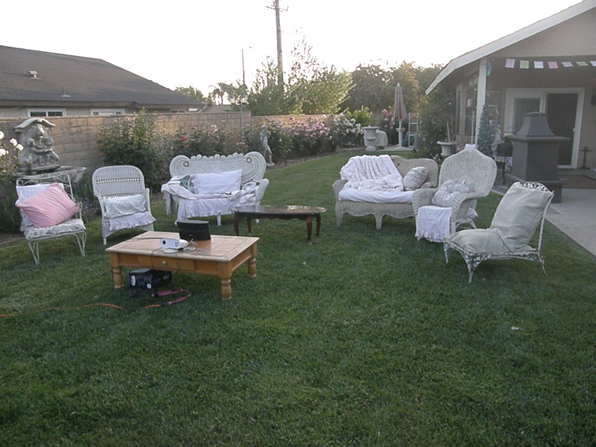 Seating for a Shabby Chic Movie Nite Bday :)