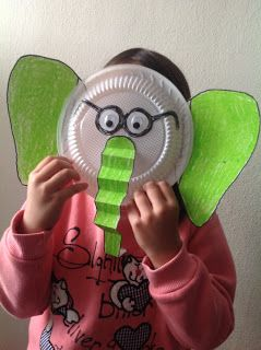 Dr. Seuss activities Paper plate elephant mask. Cute to make for Horton Hears a Who activity. & Dr. Seuss activities: Paper plate elephant mau2026 | Dr. Seuss ...