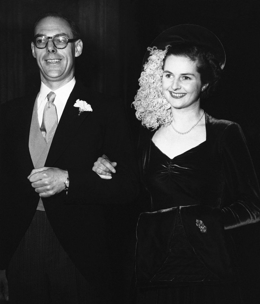 Margaret married Denis Thatcher in 1951. | The iron lady, Margaret ...