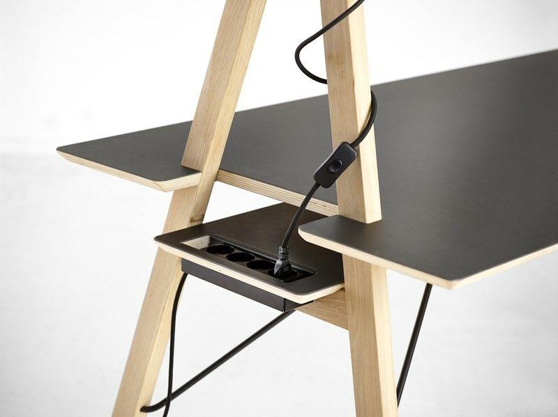 Aa desk bureau moderne par spant studio pour woud wooden