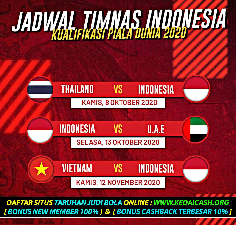 Jadwal Terbaru Timnas Indonesia Di Kualifikasi Piala Dunia 2022 Di 2020 Dunia Indonesia Piala Dunia