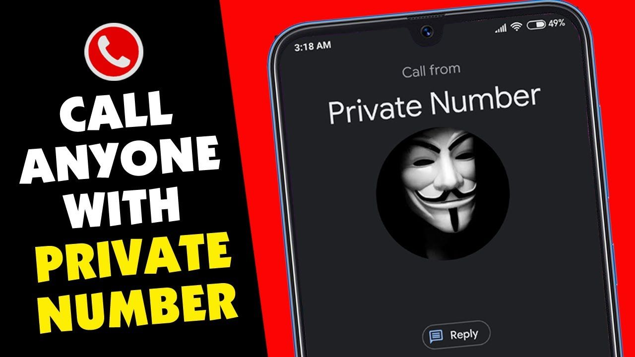 Call anyone without showing your phone number how to