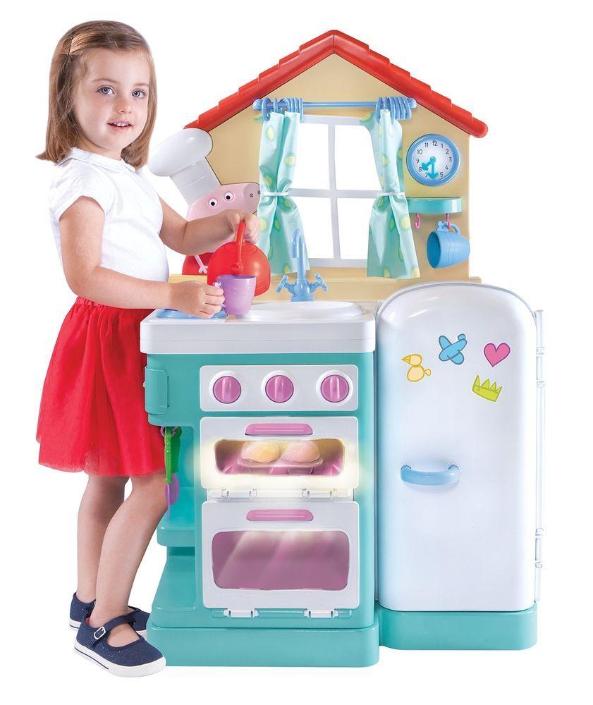 Peppa Pig Giggle & Bake Kitchen Playset Pretend Play Little ...