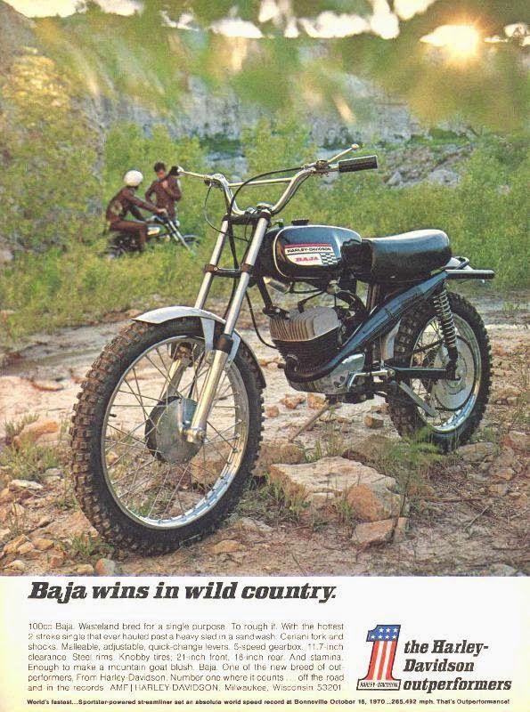 Harley Davidson Advertisements On Magazines From 1970s 2 Jpg 595 800 Motos Clasicas Motocross Motos 50cc