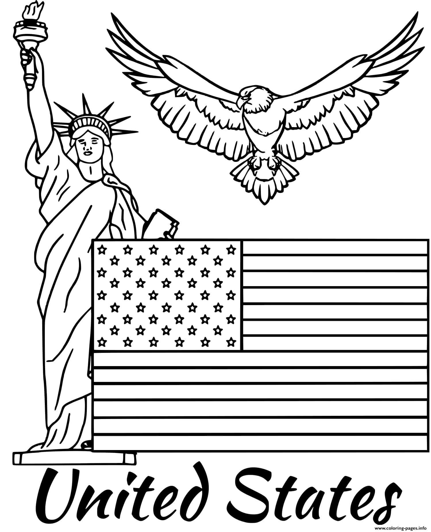 United States Flag Coloring United States Flag Coloring