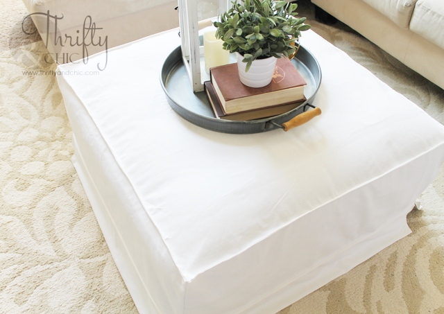 How To Make A Slipcover For An Ottoman Or Coffee Table. Great Way To Get