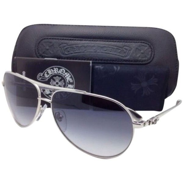073eb81e9ba Pre-owned New Chrome Hearts Sunglasses Stains Iv Ss 64-13 138 Silver...  ( 900) ❤ liked on Polyvore featuring accessories