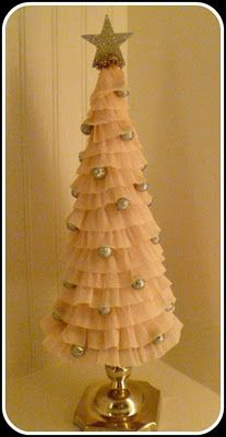 Shabby Pink Tree Tutorial Tulle Christmas Trees Shabby Christmas Pink Trees