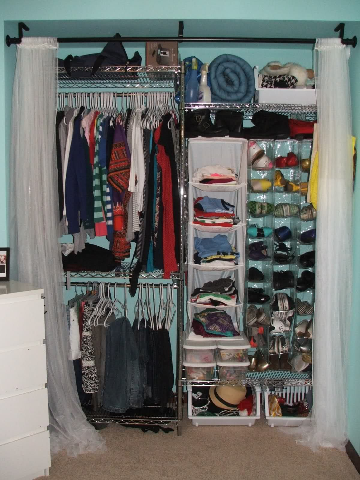 Dorm Room Ideas For Girls Organization Storage Closet Space