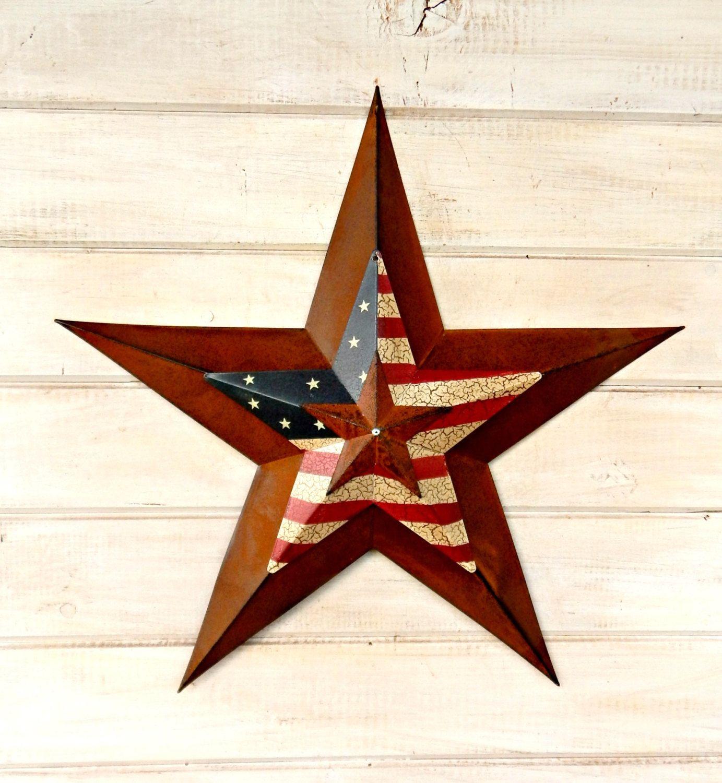 Star Home Decor Star Wall Hanging Primitve American Barn Star Patriotic Star Rustic Wall Hanging Rustic Sta With Images Rustic Star Decor Rustic Wall Hangings Rustic Star