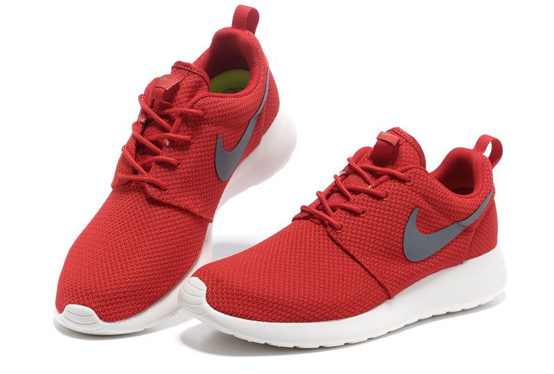 0ecdb6599a0b Sport Red Cool Grey Sail Nike Roshe Run Men s Shoes