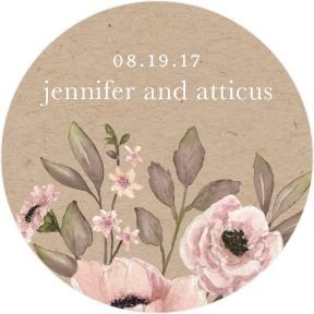Delightful Blooms - Personalized Gift Tag Stickers - Lady Jae - Bubblegum - Pink : Front