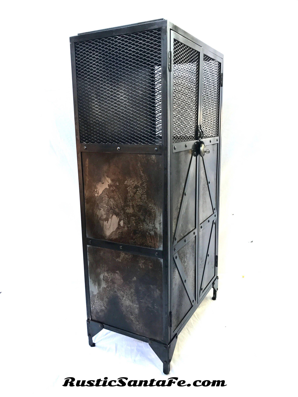 Industrial pantry modern industrial armoire steel cupboard rustic