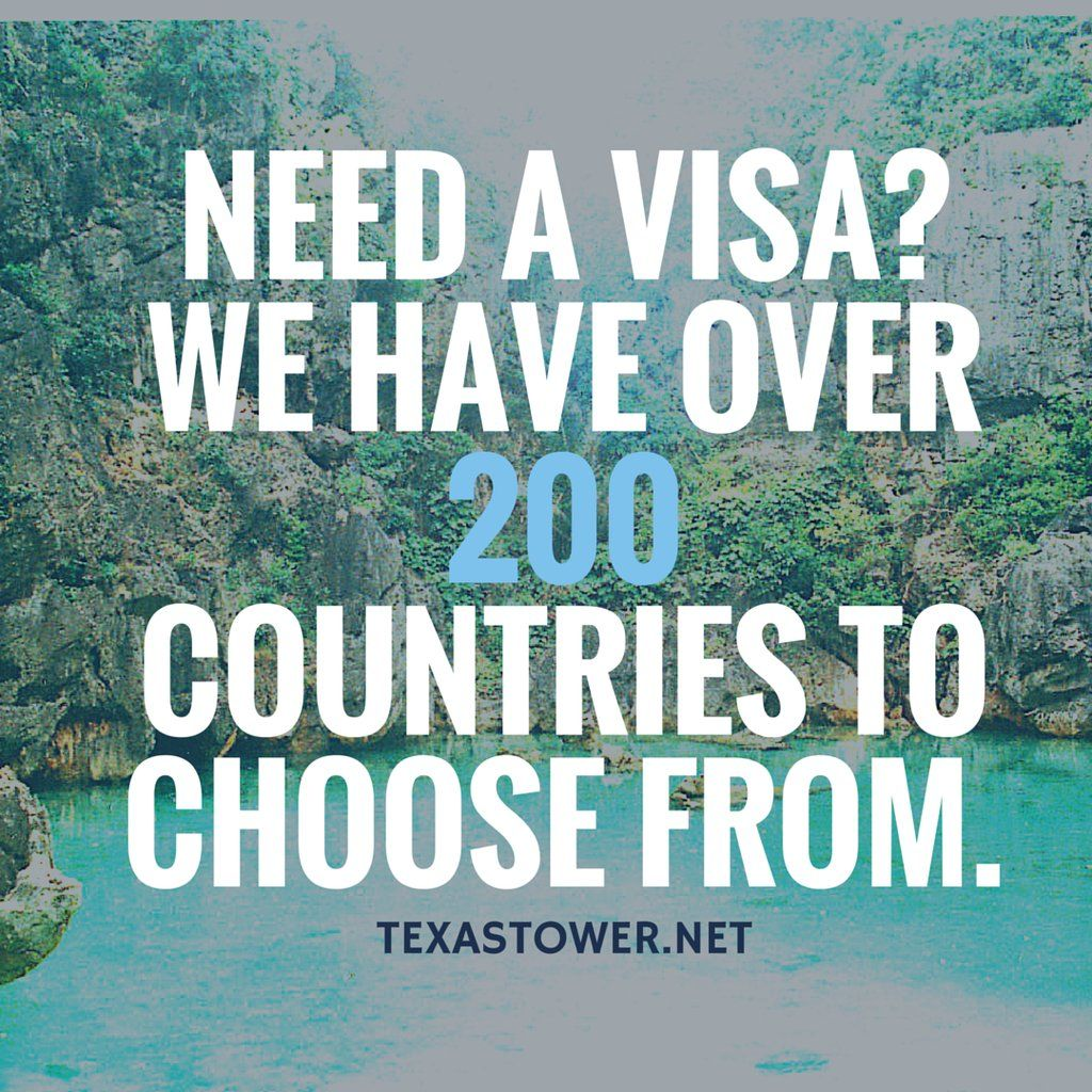 Pin by Texas Tower Passport and Visa Services on