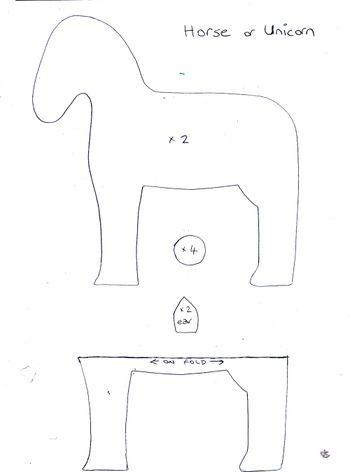 Stuffed Horse Pattern : stuffed, horse, pattern, Unicorn, Horse, Pattern,, Animal, Patterns,, Pattern