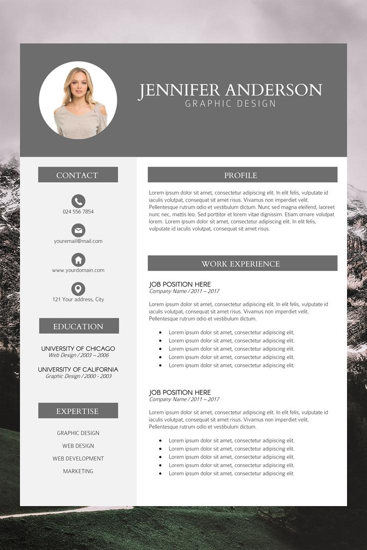 Professional Resume Cover Letter Simple Cv Template Professional Cv Design Cv Kreatif Desain Cv Riwayat Hidup